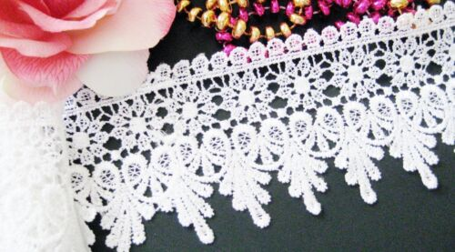 Exquisite White flower lace trim with amazing design selling by the yard