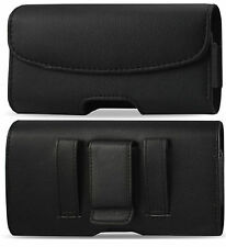 FOR APPLE iPHONE 7 LEATHER POUCH BELT LOOP CLIP HOLSTER FITS THIN CASE ON