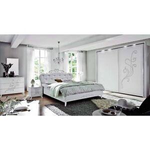 Camera da letto classica completa nivea bianco frassinato for Costo camera da letto completa