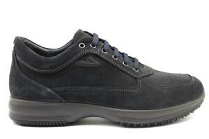 Scarpe-da-uomo-IgieCo-4112866-casual-sportive-basse-sneakers-camoscio-taglia-40