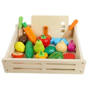 Wooden-Children-039-S-Puzzle-Early-Education-Play-House-Toy-Simulation-Fruit-And-Veg