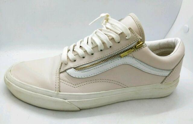 Banzai monstruo jurado  VANS Old Skool Zip Light Pink Whispering Leather Gold ZIPPER True White  Size 5 for sale online | eBay
