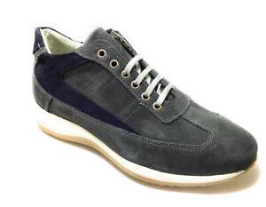 Sneakers Man Scarpe Casual Uomo Made in Italy Camoscio Grigio 201