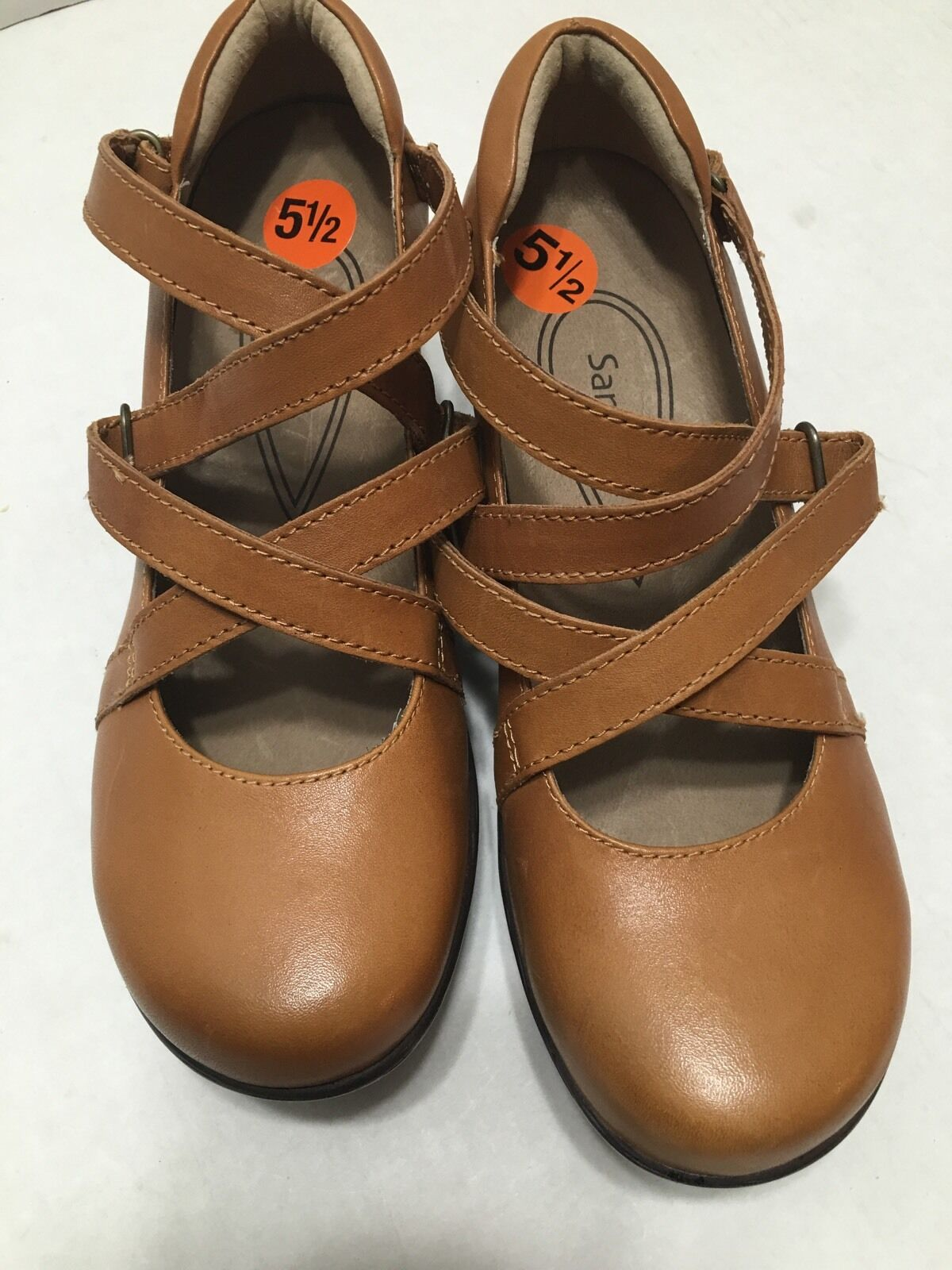 Sanita Neve Tan marron Leather chaussures Clogs sz 36 New US Taille 5.5-6