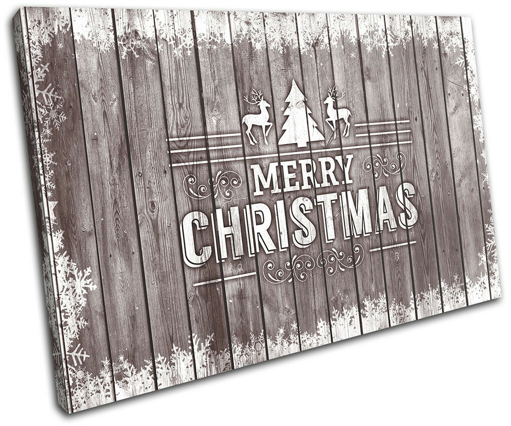 Christmas Decoration Wall Canvas ART Print XMAS Picture Picture Picture Gift Wood 15 Marronee Chris cefd98