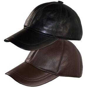La imagen se está cargando Gorra-Piel-Beisbol-Cuero-Sombrero-Hombre-Gorras -Planas- 00d3eaafecf