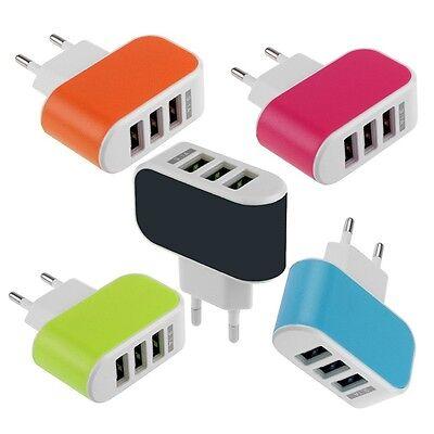 3.1A 3 порта USB перемещения дома стены AC зарядное устройство для телефона