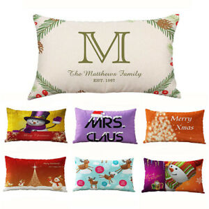 LD-UK-Christmas-Letters-Printed-Linen-Sofa-Cushion-Cover-Pillow-Case-Home-De