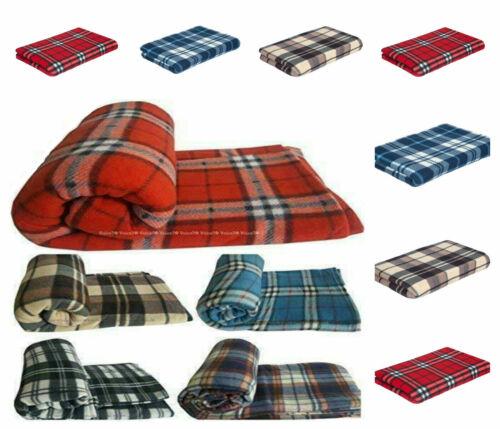 throw Sofa Throw Bed Throw cover Large Size 150 x 200 cm Tartan Fleece Blanket