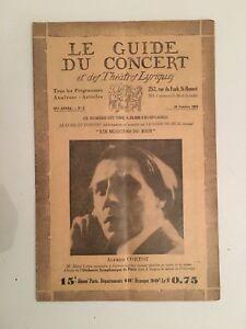 El-Guia-de-La-Concierto-Y-Las-Teatro-Letra-Alfred-Cortot-N-2-1928