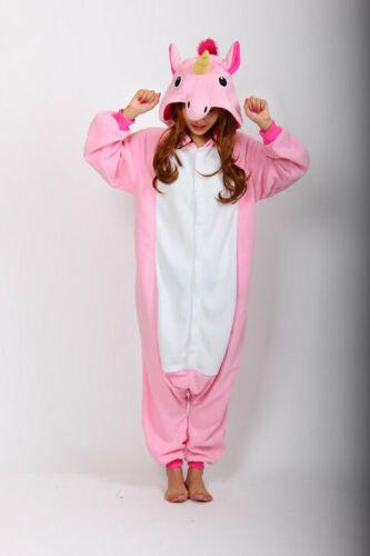 Adult Kids Unicorn Onesie00 Animal Costume Cosplay Pyjamas Slipper Sleepwear PJ