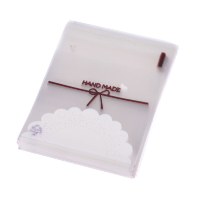 100 Pieces Self Adhesive Cellophane Party Candy Small Jewelry Gift Package Bags