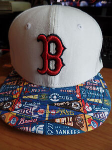 e27bfbcc Details about Boston Red Sox New Era 59Fifty MLB Pennant Hit White Flat  Bill Brim Hat Cap Lid