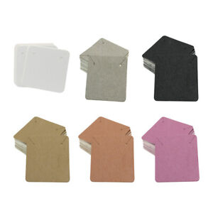 Details About 100pcs Diy Necklace Earring Display Card Hanger Kraft Craft Jewelry Tags