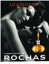 PUBLICITE ADVERTISING 2000    ROCHAS  ALCHIMIE  collection parfums