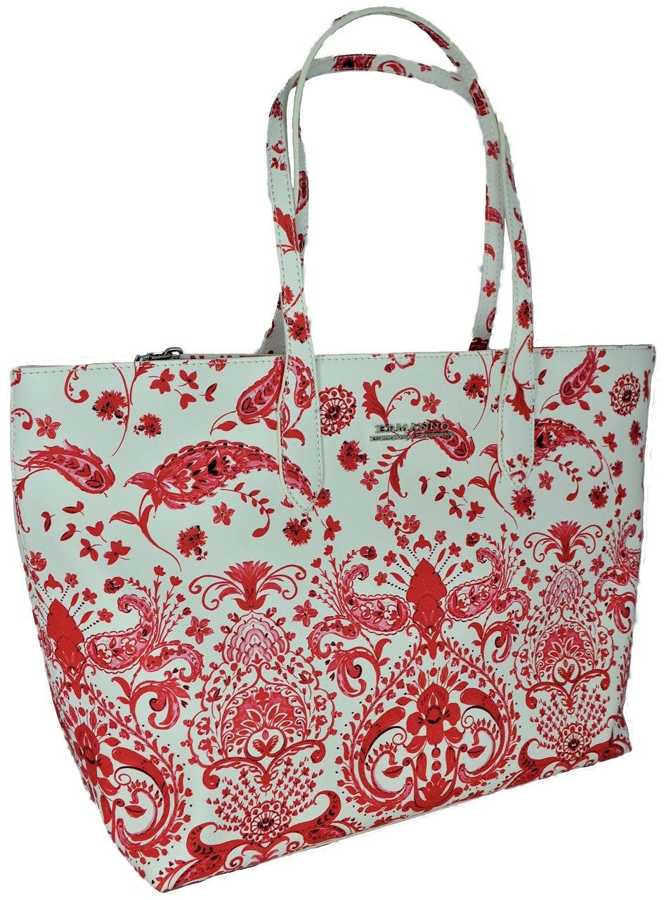 Damentaschen Weiß Koralle Schulter Ermanno Scervino Bag Frau Linie C