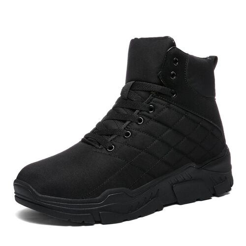 Men Plush Warm Winter Shoes Running Outdoor Shoes Snow Boots Sneakers Fashion