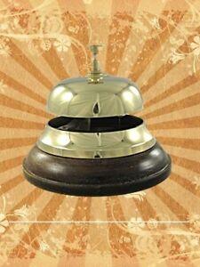 Feste & Besondere Anlässe Intelligent Hotelglocke Tisch Stammtisch Klingel Messing Holz Fuss Aus Gescher Klingt Gut Eine GroßE Auswahl An Modellen Glocken