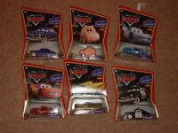 Disney Pixar Cars Ramone, Sherriff, Dinoco Mcqueen, Doc Hudson, Hamm, L Mcqueen