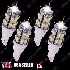 4 PCS Xenon White Wedge T10 20-SMD LED Light bulbs W5W 2825 158 192 168 194 12V