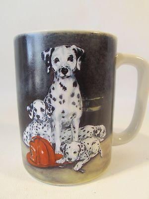 Vtg Otagiri Japan Dalmation Coffee Mug/Cup Fireman Hat Puppy Dog by Linda Picken
