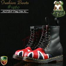 ACI Toys 1/6 Fashion Boots S2 1460_ Flag Ver.A 8 holes #729F_defect Bid AT029G