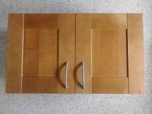 Details about ikea AKURUM Adel Brown Kitchen Cabinet Upper (2) Doors ONLY  15\