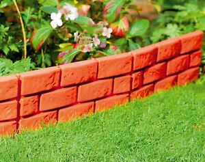 Image Is Loading Garden Border Patio Edging Brick Effect Plastic Hammer