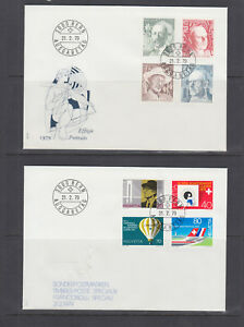 Switzerland Mi 1146/1164, 1979  issues, 5 cplt sets of on 5 Combo FDCs