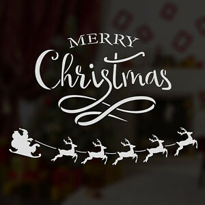 Details About Craftstar Merry Christmas Window Stencil Word Art Typography Sign Template