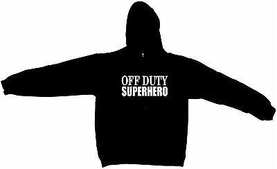 Off Duty Superhero Men/'s Hoodie Sweat Shirt Pick Size Small-5XL