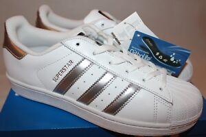 15ee881bc45db Das Bild wird geladen Adidas-Superstar-Sneaker-Sportschuhe-weiss-silber -39-1-