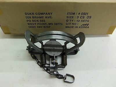 1 New Duke # 3 OFFSET Coil Spring Traps Coyote Beaver Trapping 0501