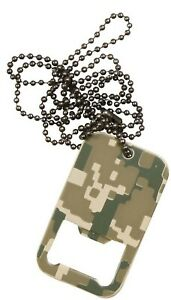 Rothco 8794 Woodland Camo Tactical Military Dog Tag Bottle Opener