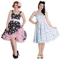 New Hell Bunny Amelia Vintage Retro Rockabilly 50s Cat Kitten Hearts Party Dress