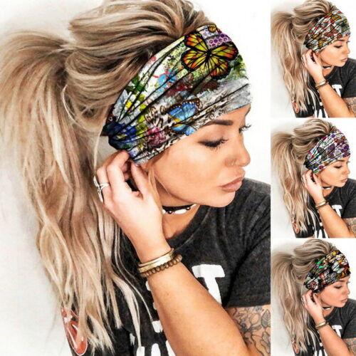 Damen Haarband Haarschmuck Elastic Stretch Bänder Sport Yoga GYM Stirnband New!