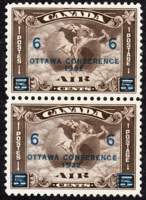 Canada Air Mail Stamp, Scott C4, 1932, Pair, MNG VF