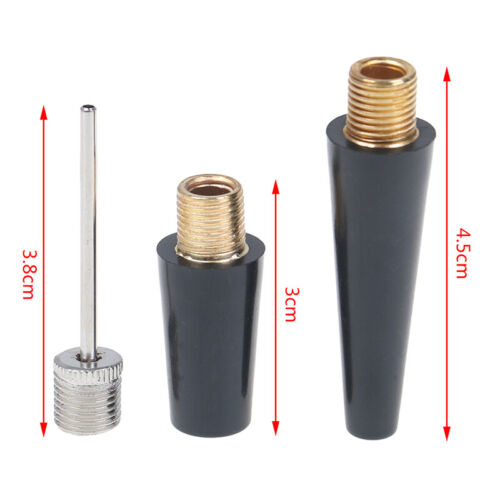3pcs Ball Bicycle Pump Needle Nozzle Kit Valve Adapter for Ball Bicycle FF
