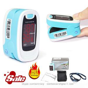 Finger-Pulsossimetro-ossigeno-Meter-dita-SPO2-Monitor-Meter-Promozione-blu-CE