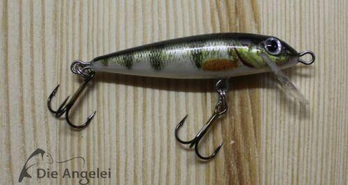 5 cm//5 g Balzer Colonel Gold Wobbler Forelle Weissfisch Barsch