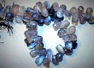 Labradorite-Strong-Fire-9-7mm-Sidedrill-Faceted-Tear-Drops-11-034-Str-gt-100-beads