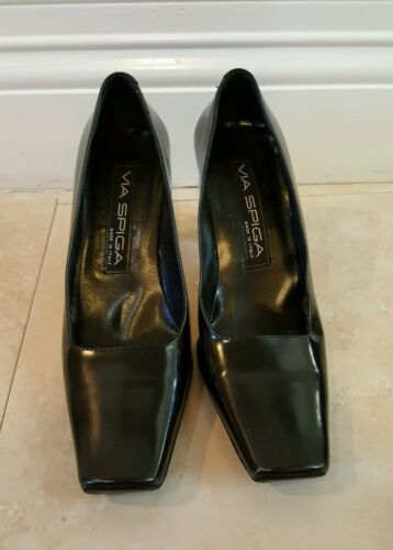 Precioso Heels Leather 4 5m Pumps Black Via Spiga xHwUtSf0