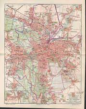 Landkarte city map 1906: Stadtplan: LEIPZIG MIT DEN VORORTEN. Völkerschlacht
