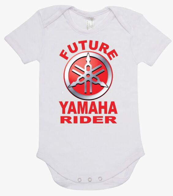 BABY ONE PIECE, ROMPER. ONESIE. printed with FUTURE YAMAHA RIDER  brand new