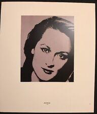Meryl Streep & Emily Landau 1984, Mini Poster 29 x 24.5cm, R247
