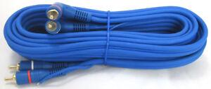 Cinch-Kabel-5m-Remote-RCA-Verstaerker-Endstufe-Adapter-Chinch-Stecker-KFZ