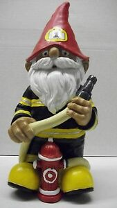 FIREFIGHTER-GNOME-STATUE