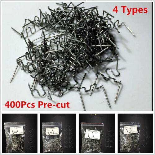 400xMulti-pack Pre-cut Staples Hot Staples For Plastic Stapler Repair Kit Welder