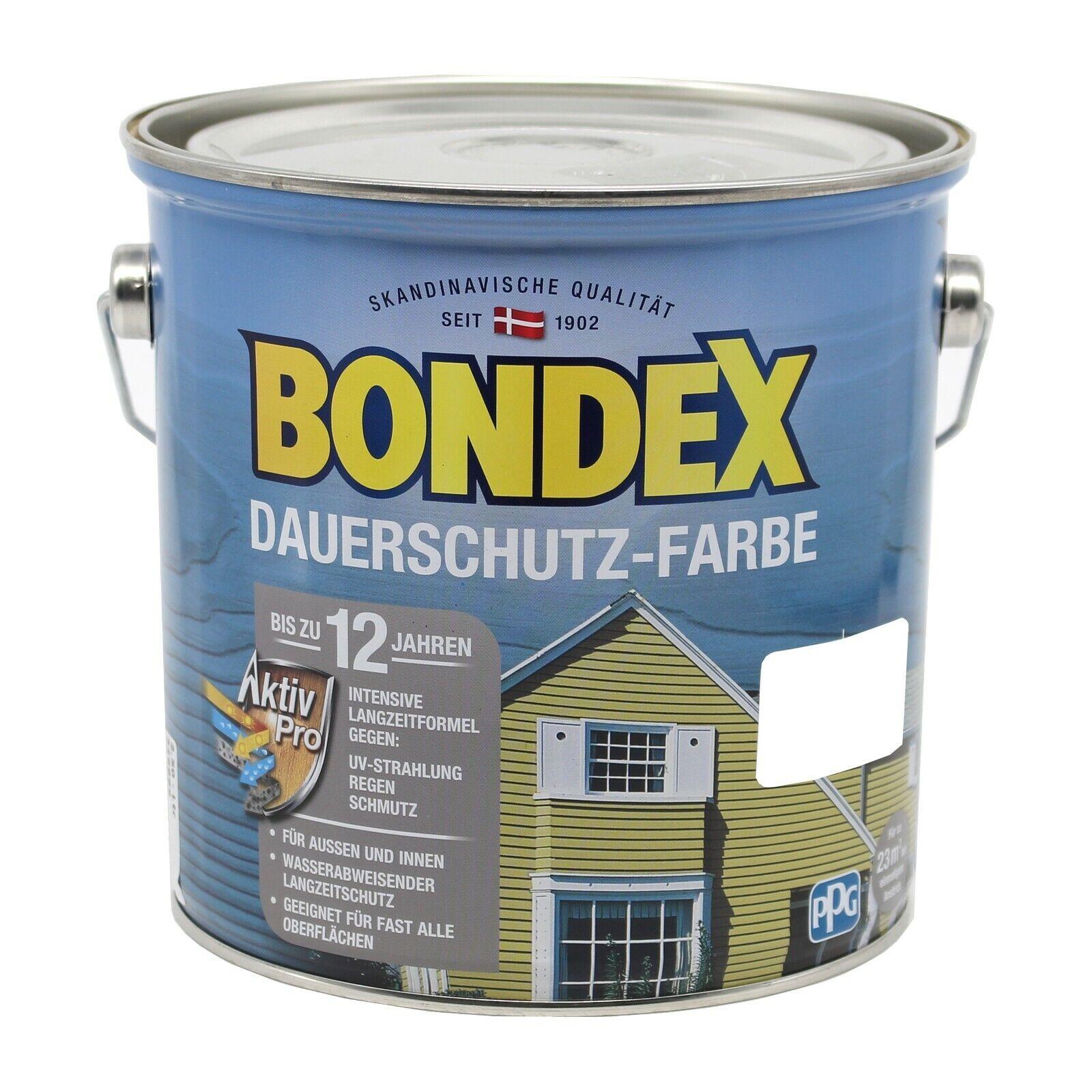 Bondex Dauerschutzfarbe Champagner (Cremeweiss) 2,5 Liter