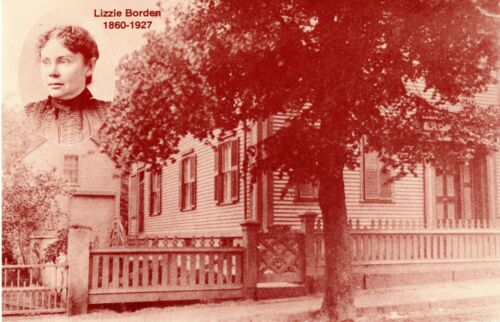 1892 Tragedy LIZZIE BORDEN POSTCARD-Aug.4th